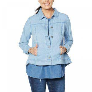 NWT DG2 Jean Jacket Medium Blue Chambray